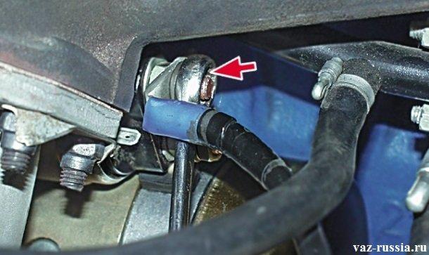 Снятие провода тягового реле стартера