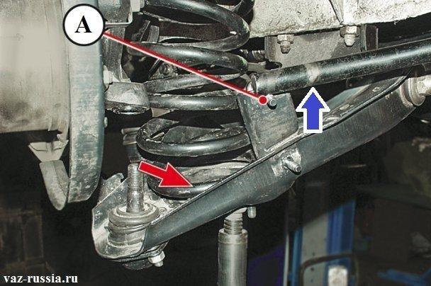 Перекидывание штанги стабилизатора через шпильку