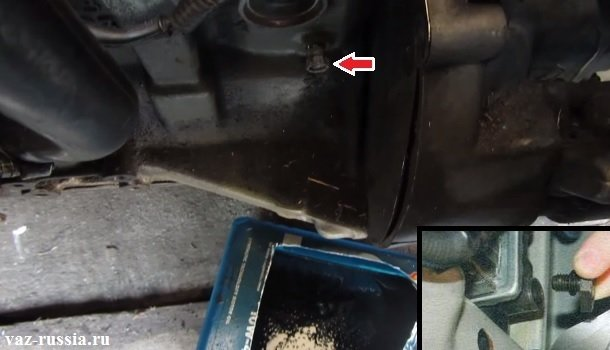 Сливная пробки блока цилиндров и сливная пробка радиатора
