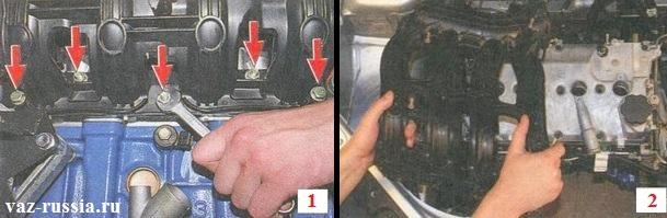 Болты и гайки которые крепят впускной коллектор к двигателю автомобиля