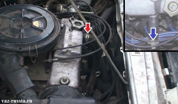 Шланг вентиляции картерных газов подсоединён к крышки головки блока цилиндров, отсоединить его вам придётся