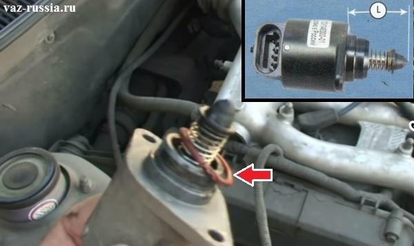 Уплотнительное кольцо регулятора и измерение расстояния между концом иглы клапана и монтажным фланцем