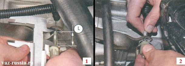 Установка нового троса и его регулировка за счёт поводка который на кончике присутствует