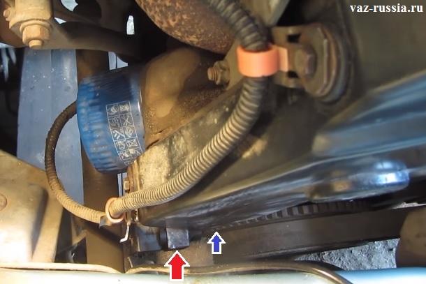 Расположение датчика в 8 клапанном автомобиле