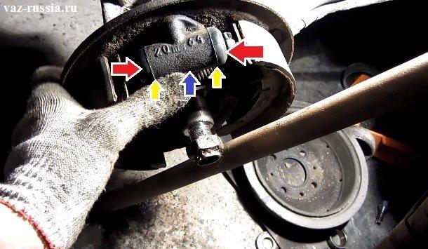 Расположение тормозного цилиндра в автомобиле и поршни его
