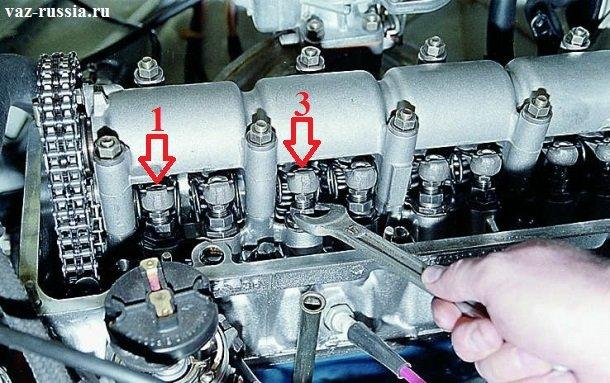 Регулировка 1 и 3 клапана