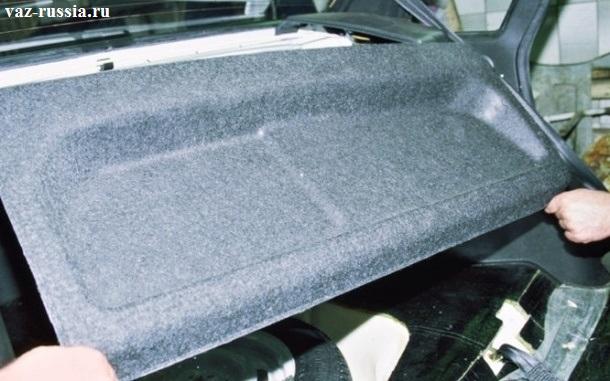 Снятие основной задней полки багажника