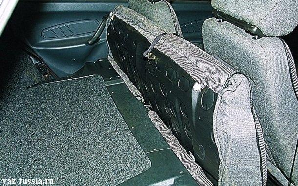 Раскладки спинки заднего сиденья