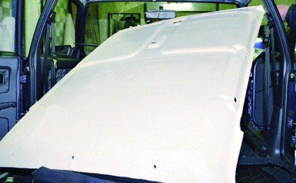 Замена обшивки потолка на ВАЗ