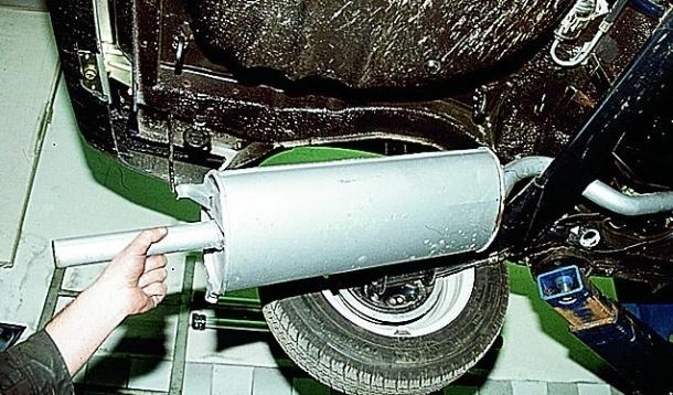 Замена задней части глушителя на ВАЗ