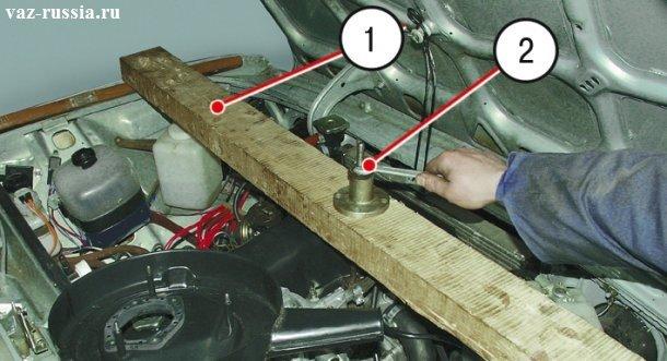 Как снять двигатель на ваз 2107 своими руками