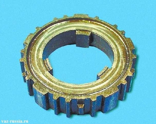 На фото ступица синхронизатора изображена