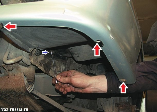 Vintyi krepleniya podrkyilki k kuzovu avtomobilya - Замена переднего крыла на ВАЗ 2113, ВАЗ 2114, ВАЗ 2115