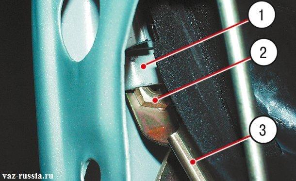 На фото показана правильная установка заднего желобка стекла