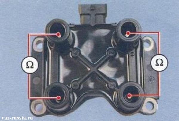 Проверка модуля на обрыв вторичных обмоток
