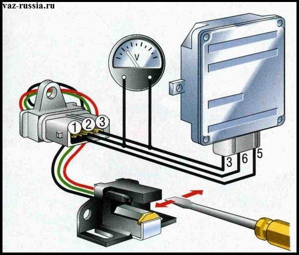 Схема по которой можно проверить датчик холла на его исправность