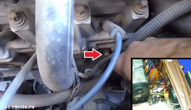 Две пробка для сливания охлаждающей жидкости с автомобиля