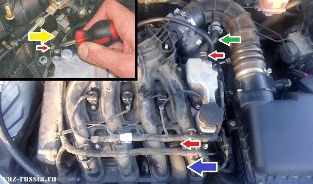 Все три шланга вентиляции картерных газов показана на рисунках