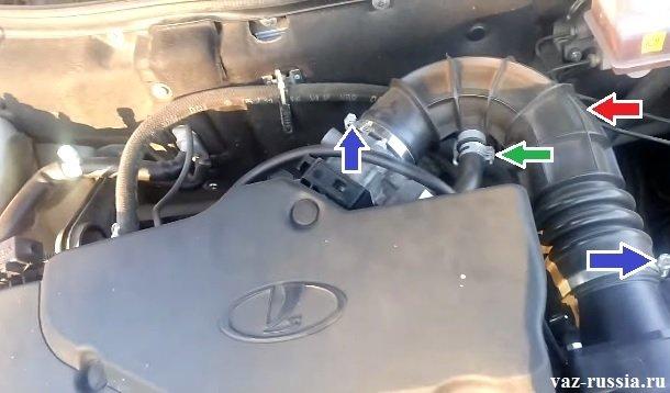 Воздушный шланг и шланг вентиляции картерных газов