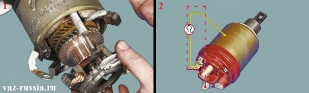 Проверка втягивающего реле и того с какой силой пружины держат щётки