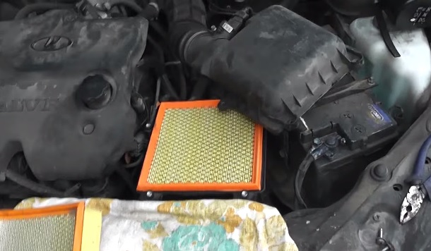 Замена воздушного фильтра на ВАЗ