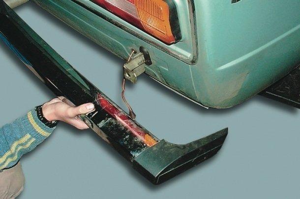 Замена заднего бампера на ВАЗ