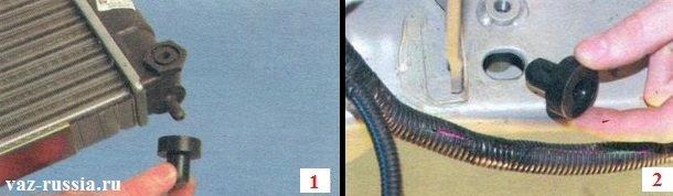 Снятие резиновых подушек с ножек радиатора