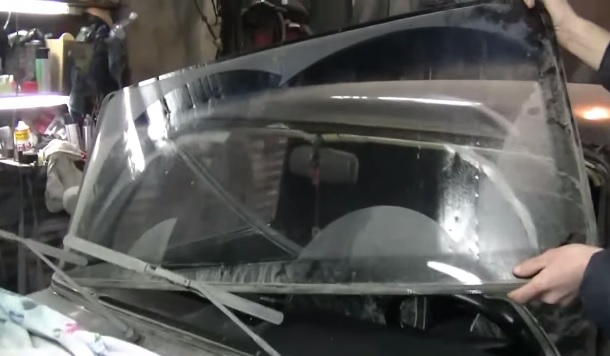 Замена лобового стекла ваз 2114  видео ютуб