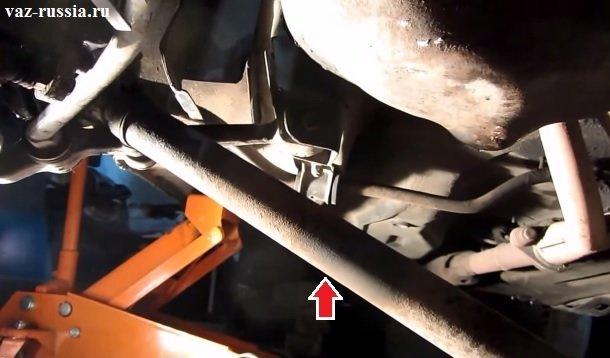 Вынимание привода через днище автомобиля