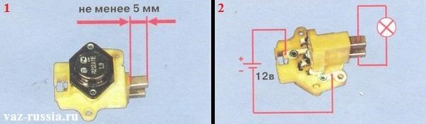 Фото №1 - размеры щётки генератора ВАЗ 2110