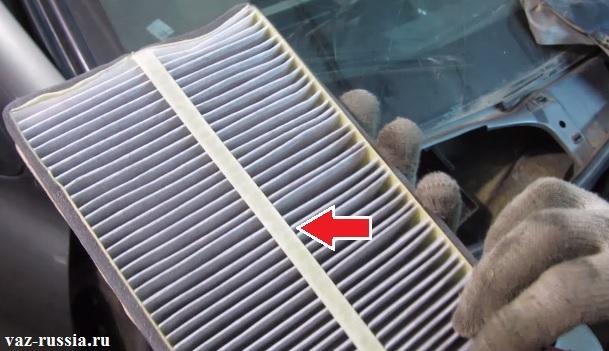 Замена воздушного фильтра салона калина