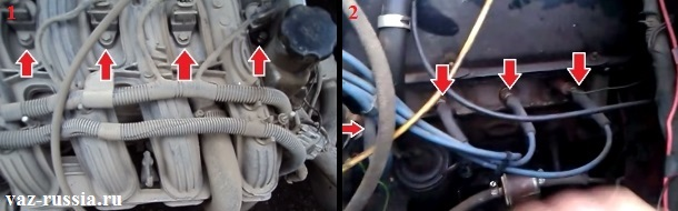 Просмотрев фотографии, можно понять где именно находятся свечи зажигания в 8 клапанных и в 16 клапанных автомобилях