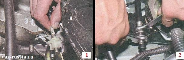 Снятие троса сцепления с автомобиля