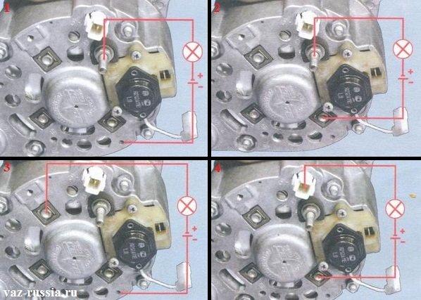 Проверка диодного моста на исправность, на снятом с автомобиля генераторе