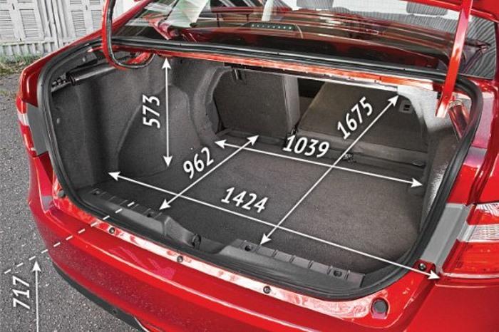 Размеры багажника Лада Веста