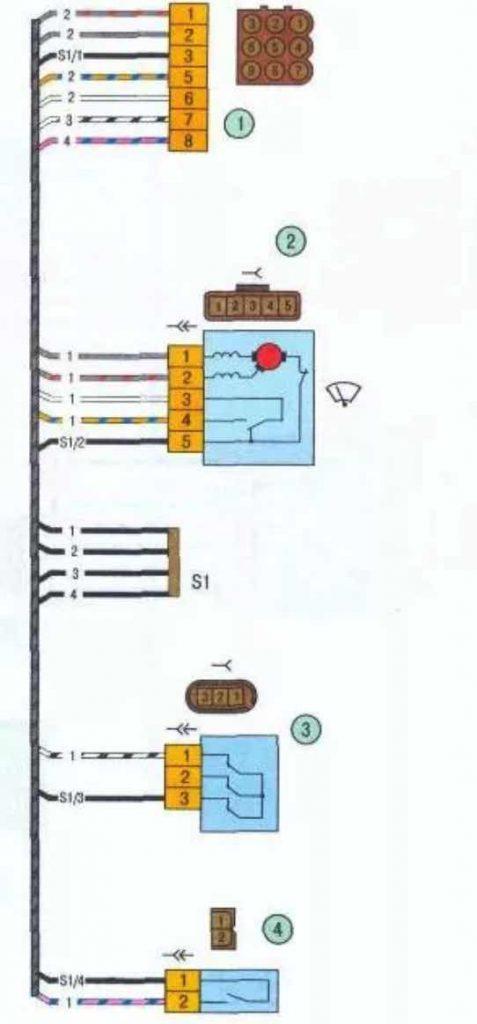 Распиновка проводки блока подачи воздуха Калина