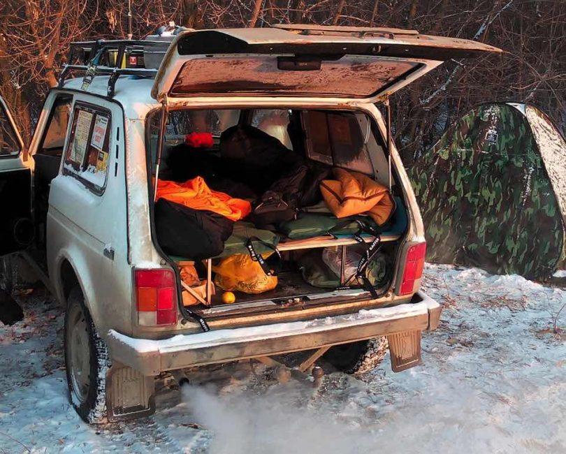 Ночевка зимой в авто