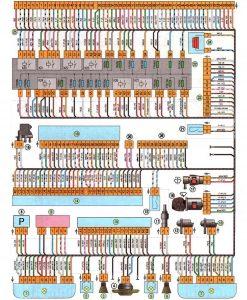 Схема переднего жгута