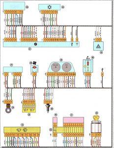 Электросхема Весты